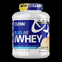 """אבקת חלבון מי גבינה BlueLab 100% Whey בטעם וניל 2.04  ק""""ג - מבית USN"""