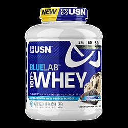 """אבקת חלבון מי גבינה BlueLab 100% Whey בטעם קרם עוגיות 2.04  ק""""ג - מבית USN"""