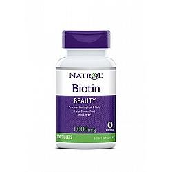 ביוטין 1,000 מקג עם סידן - 100 טבליות מבית NATROL