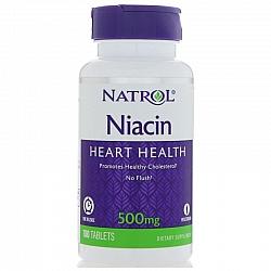 """ניאצין 500 מ""""ג ויטמין B3 כמות 100 טבליות מבית NATROL"""