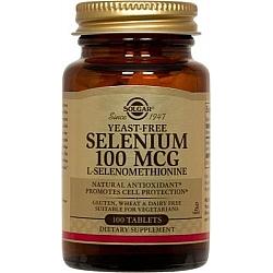 סלניום נטול 100 mcg סולגאר שמרים (סלנו 6)  - 100 טבליות מבית SOLGAR