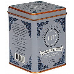 תה שחור ארוחת בוקר אנגלית English Breakfast בפחית 40 גרם 20 שקיות - מבית Harney & Sons