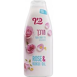 """כיף מרכך לשיער ורד ושמן קוקוי לרכות וברק - 700 מ""""ל"""