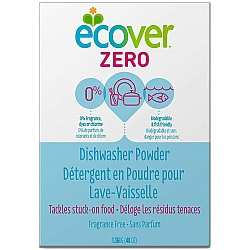 """אקובר אבקת ניקוי אקולוגיות למדיח כלים ZIRO זירו ללא ריח 1.36 ג""""ק - מבית Ecover"""