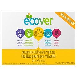 אקובר טבליות ניקוי אקולוגיות למדיח כלים ניחוח הדרים 45 טבליות - מבית Ecover
