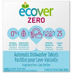 אקובר טבליות ניקוי אקולוגיות למדיח כלים ZIRO זירו ללא ריח 25 טבליות - מבית Ecover