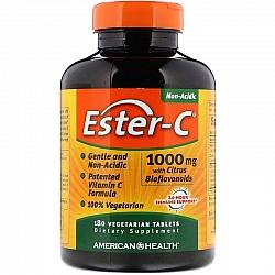 """אסטר סי ויטמין C לא חומצי 1000 מ""""ג 180 טבליות - מבית Ester-C"""