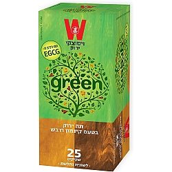 תה ירוק דבש וקינמון ויסוצקי 25 שקיקים