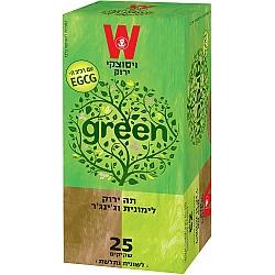 תה ירוק לימונית וג'ינג'ר ויסוצקי 25 שקיקים