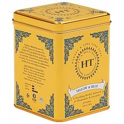 חליטת צמחים צהוב וכחול קמומיל ולבנדר HT נטול קפאין בפחית 40 גרם 20 שקיות - מבית Harney & Sons