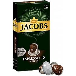 ג'ייקובס קפסולות קפה אספרסו אינטנסו חוזק 10 - 10 קפסולות