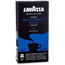 קפסולות קפה Decaffeinato Ricco נטול קפאין חוזק 6 לנספרסו 10 יחידות לוואצה