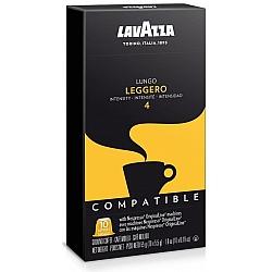 קפסולות קפה Leggero חוזק 4 לנספרסו 10 יחידות לוואצה