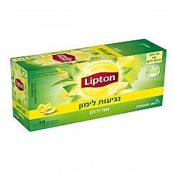 ליפטון תה ירוק נגיעות לימון 20 שקיקים