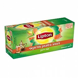 ליפטון תה ירוק נענע בסגנון מרוקאי 20 שקיקים