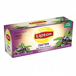 ליפטון תה מרווה ללא קפאין 20 שקיקים