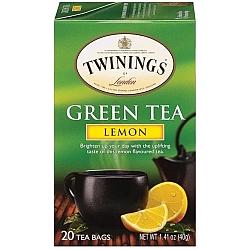 טווינינגס תה ירוק לימון 20 שקיות - מבית Twinings