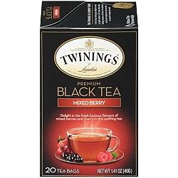 טווינינגס תה שחור פרימיום ברי מעורב MIXED BERRY PREMIUM BLACK בשקיות 20 יחידות - מבית Twinings