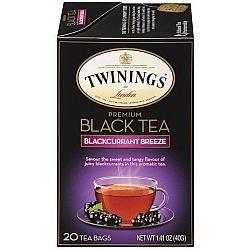 טווינינגס תה שחור פרימיום ענבי שועל Blackcurrant Breeze בשקיות 20 יחידות - מבית Twinings