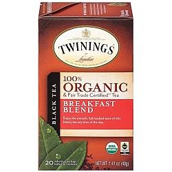 טווינינגס תה תה שחור 100% אורגני ארוחת בוקר Organic Breakfast Blend בשקיות 20 יחידות - מבית Twinings