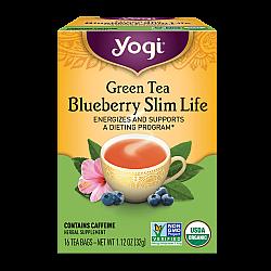 יוגי תה אוכמניות תה ירוק להרזיה 16 שקיקים - מבית Yogi Tea
