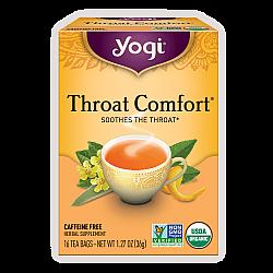 יוגי תה נוחות גרון ללא קפאין 16 שקיקים - מבית Yogi Tea