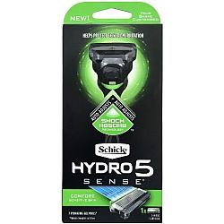 שיק היידרו סנס 5 מכשיר גילוח רב פעמי פלוס אחד סכין - מבית Schick