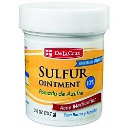 משחה גופרית טיפול אקנה ופצעונים 73 גרם - De La Cruz