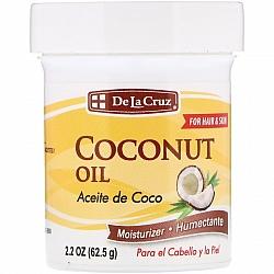 שמן קוקוס לחות לשיער ועור 62 גרם - De La Cruz