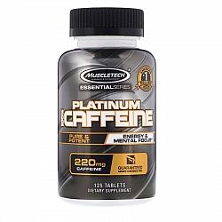 """קפאין פלטיניום 100% חזק 220 מ""""ג - ספיגה מהירה - 125 טבליות - מבית Muscletech"""