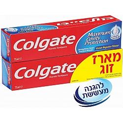 """קולגייט מארז אדומה משחת שיניים להגנה מקסימלית מפני עששת 2 * 75 מ""""ל - מבית Colgate"""