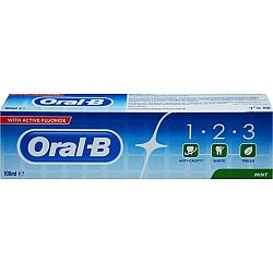 """אורל בי 123 משחת שיניים עם פלואוריד 100 מ""""ל"""