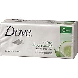 דאב אל סבון מוצק מכיל 25% לחות בניחוח מלפפונים ותה ירוק 6 יחידות - מבית DOVE