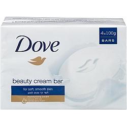 דאב אל סבון מוצק מכיל 25% לחות 4 יחידות - מבית DOVE