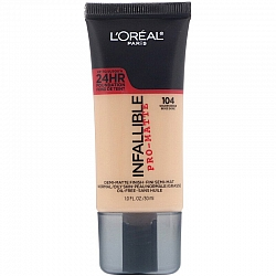 לוריאל אינפיליבל פרו מאט INFALLIBLE PRO MATTE מייק אפ עמיד - גוון 104 - מבית L'Oréal
