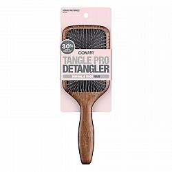 מברשת עץ לשיער בצורת משוט מתירה קשרים לשיער רגיל וצפוף - מבית Conair