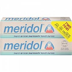 """מארז משחת שיניים מסייעת לטיפול ומניעה של בעיות חניכיים 2 * 75 מ""""ל - מרידול"""