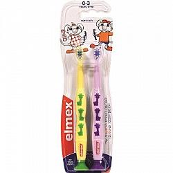 מברשות שיניים לילדים בגילאי 0-3 ניקוי לשיניים ראשונות - 2 יחידות - אלמקס