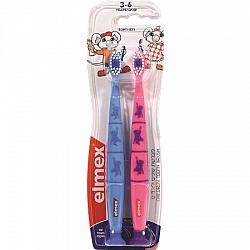 מברשות שיניים לילדים בגילאי 3-6 שנים - 2 יחידות - אלמקס
