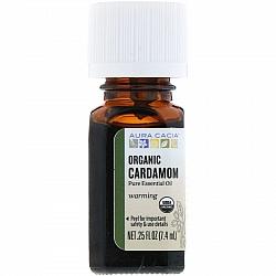 """שמן אורגני הל (קרדמון) 100% טהור 7.4 מ""""ל - מבית Aura Cacia"""