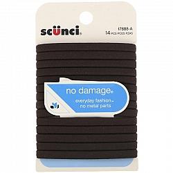 גומיות לשיער גמישות נוחות צבע חום - 14 יחידות - מבית Scunci