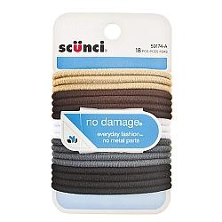 גומיות שיער גמישות ללא פגמים - 18 יחידות - מבית Scunci
