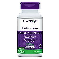 """קפאין 200 מ""""ג - קפאין באיכות גבוהה - 100 טבליות - מבית Natrol"""