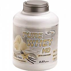 """אבקה חלבון מי גבינה פיור ווי HD בטעם וניל בד""""ץ משקל 2.3 ק""""ג - מבית PowerTech Nutrition"""