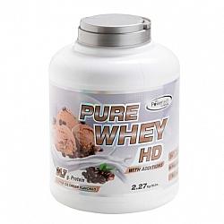 """אבקה חלבון מי גבינה פיור ווי HD בטעם קפה בד""""ץ משקל 2.3 ק""""ג - מבית PowerTech Nutrition"""