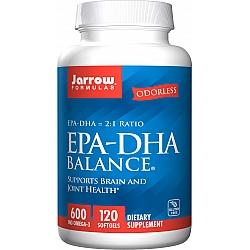 ג'ארו אומגה 3 איזון EPA-DHA יחס 2:1 - 120 כמוסות רכות - מבית Jarrow Formulas