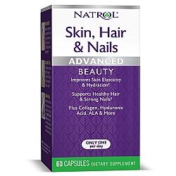 קומפלקס ויטמינים ומינרלים העור ציפורניים שיער 60 כמוסות - מבית NATROL