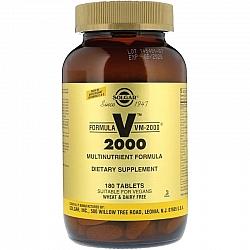 מולטי ויטמין מינרל VM-2000 סולגאר - 180 טבליות מבית SOLGAR