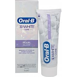 """אורל בי 3D WHITE משחת שיניים לבן פנינה 75 מ""""ל"""