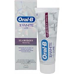 """אורל בי 3D WHITE משחת שיניים להלבנה זוהרת 75 מ""""ל"""